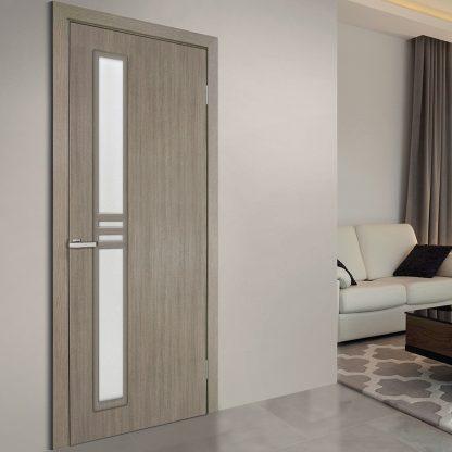 Modern üveges beltéri ajtó